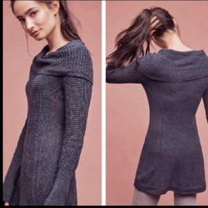 Angel Of The North Rosie Cowl Neck Tunic Sweater L